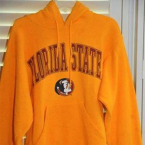 FSU Seminoles Gold Logo Hoodie Sweatshirt sz S